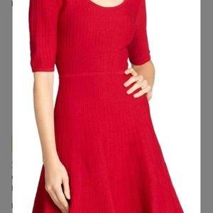 Red BCBG dress in style Allie